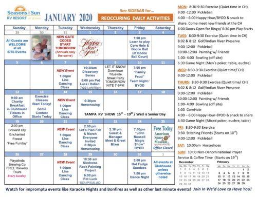 January Calendar Month